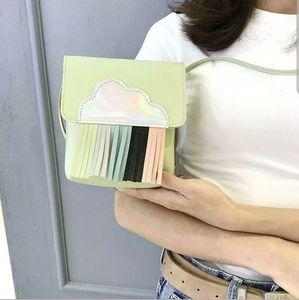 Handbags - Kawaii Green Cloud Fringe Clutch Purse